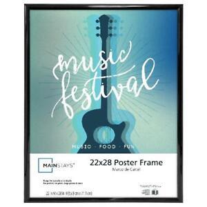 Wall Frame Picture Poster Photo 22x28 Art Decor Trendsetter Lightweight Black