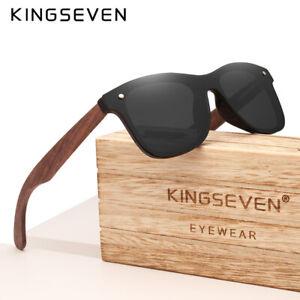 KINGSEVEN Handmade Polarized Walnut Wood Sunglasses UV400 Fashion Men Women