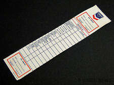 Service Sticker - Chevron 1967 - NOS - Unused