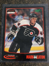 Mark Eaton Signed Philadelphia Flyers 8.5X11 Photo Card - PSA Guarantee