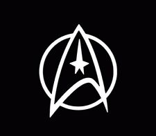 Star Trek Starfleet Spock Car Truck Decal Sticker White Window