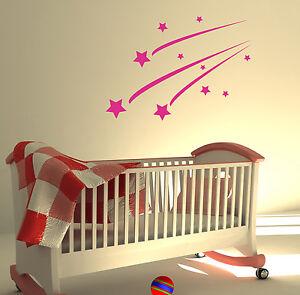 SHOOTING STARS KIDS BEDROOM WALL STICKER ART DECALS