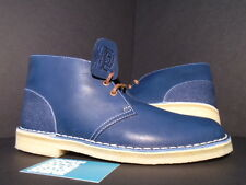 CLARKS ORIGINALS DESERT BOOT HERSCHEL SUPPLY CO BLUE COMBI DENIM LEATHER NEW 10