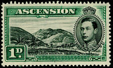 More details for ascension sg39, 1d black & green, lh mint. cat £45.