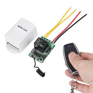 DC Funk Wireless Relais Fernbedienung Schalter Empfänger & Sender DC4V~12V