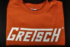 Gretsch T-Roof Logo Tee Shirt Burnt Orange Medium
