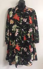 NEW Ex Wallis Black Butterfly Floral Print Button Shirt Blouse Top Size S/M/L/XL