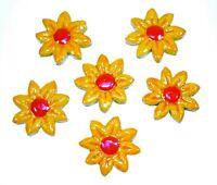 Mosaiksteine-Blumen-Blüten-Farbe:gelb/rot - Grösse: 4cm- 6 Stück-handmade