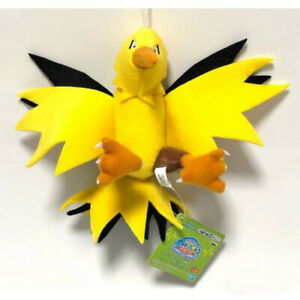 Pokemon peluche ZAPDOS 15cm ORIGINALE Banpresto