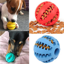Dog Toys Stretch Rubber Leaking Ball Cat Dog Chew Toys Tooth Cleaning Balls UKji