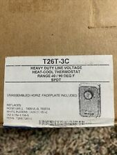New Johnson Controls T26T-3C Heavy Duty Line Voltage Heat-Cool Thermostat Spdt