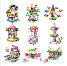 9 Set LOZ Building Block Amusement Park Brick Street City View Educational Model