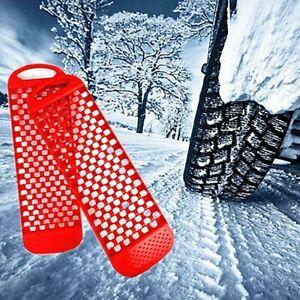 2X Car Tire Traction Wheel Anti-skid Pad Auto Emergency Snow Rain Mud Grip NIB