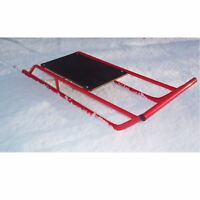 Snow Sledge / Toboggan / Sleigh Steel with Wooden Top Sled / Bobsled / Bobslei