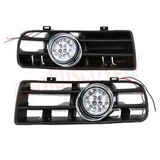 Front Lower Bumper Grill Grille Fog Light Lamp for 99-04 VW Golf MK4 GTI 6000K