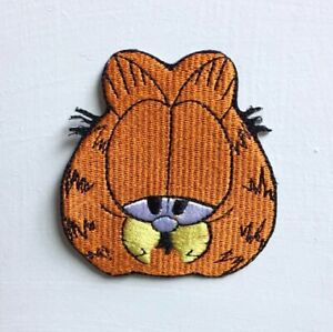 Garfield animated cartoon Art Badge Iron or sew on Embroidered Patch