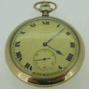 Antique 1911 Elgin Grade 357 Model 2 14s 15J Gold Filled Pocket Watch