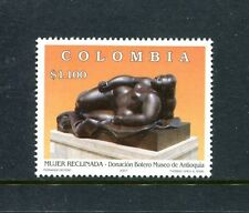 Colombia 1181, MNH, Reclining Woman, by Fernando Botero 2001. x23443