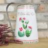 Pitcher Flower Planter Galvanised Metal Herb Flower Vase Jug Garden Pots Rustic