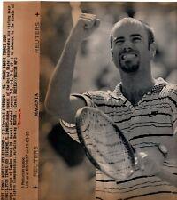 Original Press Wire Photo Tennis Andre Agassi Lipton Champs Florida 24.3.1995