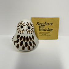 STRAWBERRY HILL POTTERY - SMALL WHITE OWL