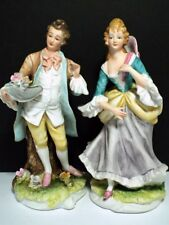 Vintage Lefton Victorian Couple George & Mildred Porcelain Figurines Kw3046