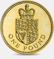 1988 One Pound £1 Coin Crowned Shield of the Royal Arms Rare