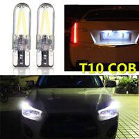 10x LED Bright Glass License Light T10 194 168 W5W COB Bulbs White Silica CANBUS