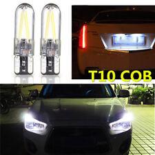 10x T10 194 168 W5W COB LED Silica Bright Glass License Light Bulbs White CANBUS