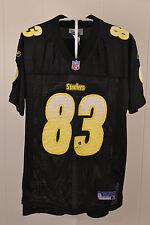 Reebok Pittsburgh Steelers Jersey #83 Heath Miller NFL Kids Large 14 Black