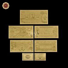WR Ned Kelly Gold Foil Novelty Bank Notes Set 10s 1, 5, 10 Pound Pre Decimal COA