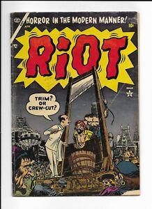 RIOT #1 ==> VG GOLDEN AGE SATIRE - 1ST ISSUE - ATLAS COMICS 1954