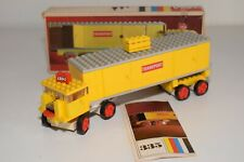 Y VINTAGE LEGO SYSTEM 335 TRUCK WITH TRAILER TRANSPORT YELLOW EXCELLENT BOXED