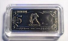 """5 Gram """"AQUARIUS""""  Zodiac, Star sign 5 Gram Tibetan Silver ingot in Capsule"""