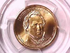 2010 D James Buchanan Presidential Dollar PCGS SP 68 Position A 16360171