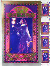 Stevie Nicks Poster Original Uncut Proof Sheet Metallic Inks Signed Bob Masse