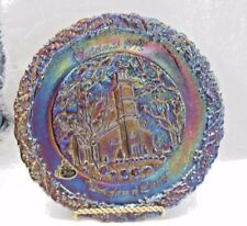 FENTON CARNIVAL AMETHYST GLASS 1975 CHRISTMAS PLATE (BIRTHPLACE OF LIBERTY)