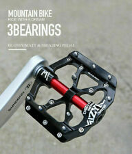 """9/16"""" MTB Mountain Road Bike 3 Bearings Pedals Alloy Bicycle Non-Slip Pedals"""