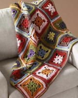 Crochet Pattern Colourful Autumnal Afghan Throw