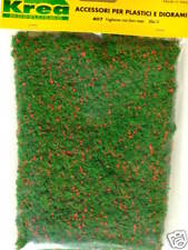 Manto erboso  verde con fiori rossi per plastico cm.30x15 - Krea 407