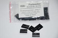 25x schwarze Farbreiter, ELBA Typ 85512 f. Hängeregistratur vertic 1, 20 x 16 mm