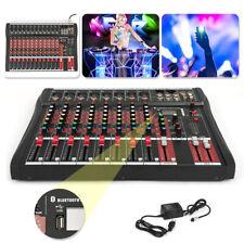 8/12 Channels Bluetooth Live Studio Audio Mixer Mixing Console USB XLR Phantom