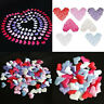 100Pcs Fabric Heart Shape Padded Confetti Petal Wedding Home Room Party Decor