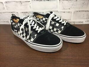 VANS #500714 Black/White Checkered Vans Lace Up Men US 8.5