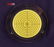 100mm Diameter Disc Bubble Spirit Level Round Circle Circular Tripod Bullseye