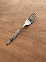 "(1) Oneida Community Stainless MY ROSE Salad Fork Flatware 6-1/4"""