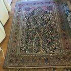 Antique Oriental Rug Early 20th Century with Gold Thread Foundation Very Fine