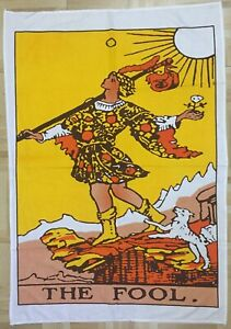 The Fool Design Poster Wall Hanging Cotton Handmade Tarot Card Small Tapestry