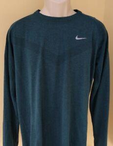 NIKE RUNNING Dri-fit mens running/gym long sleeve top, XL adult,see measurements