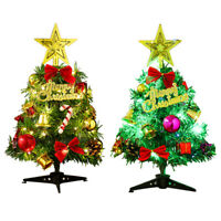 30CM Mini Christmas Tree with LED Lights Ornaments Desk Table Decor Xmas Gift